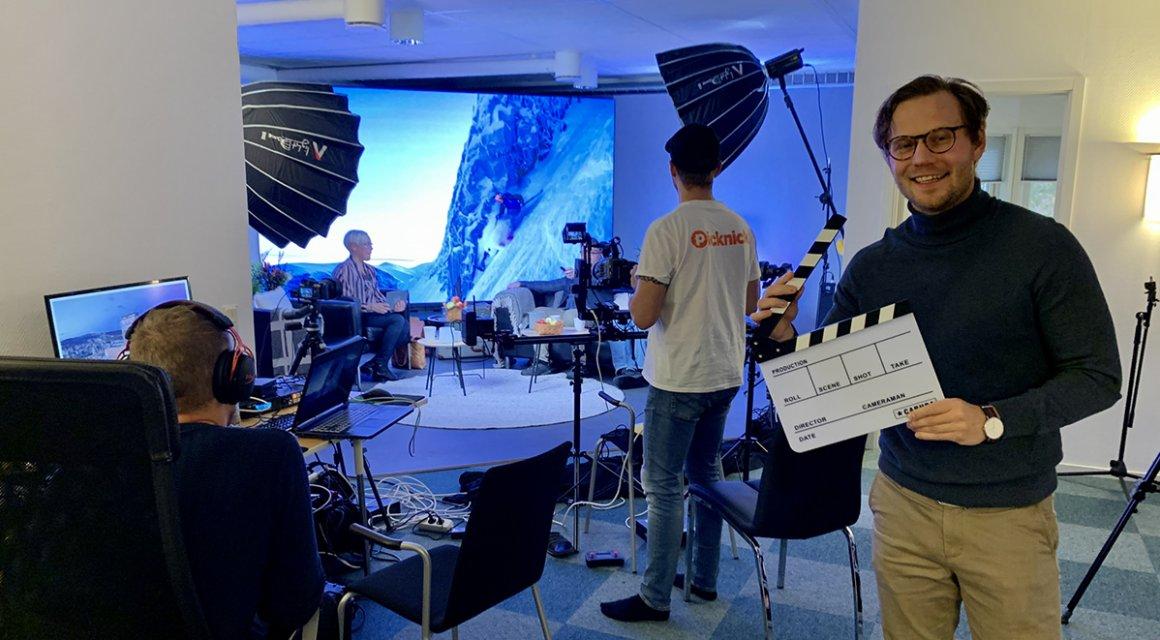 Inspelning av introduktion till Swedish Lapland Summit